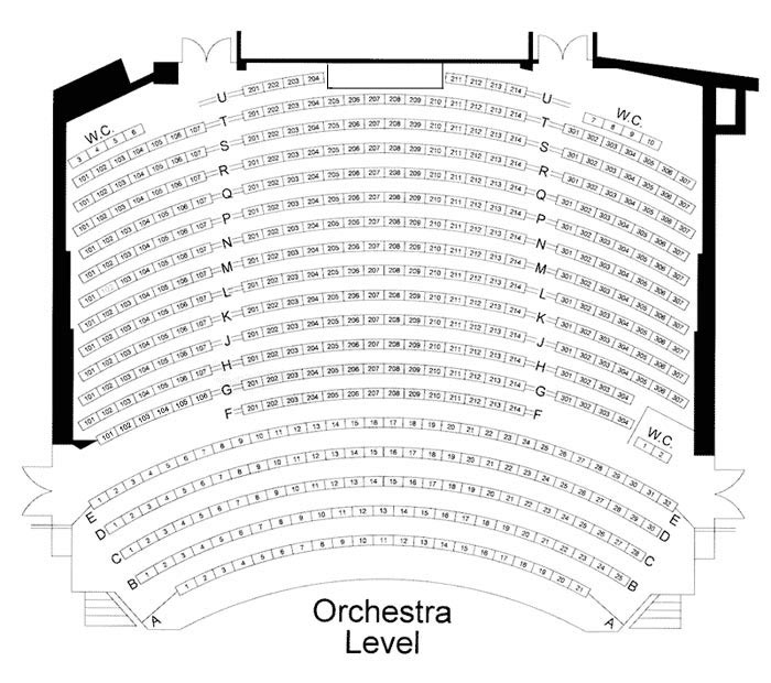 Orchestra Level Seating Chart